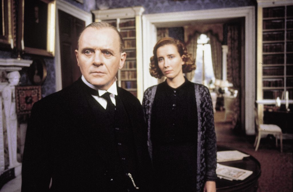 Anthony Hopkins als butler Stevens (l.) en Emma Thompson als miss Sally Kenton (r.)